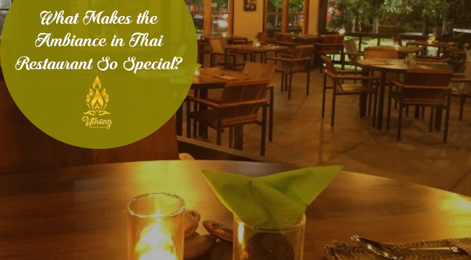what makes the ambiance in thai restaurant so special